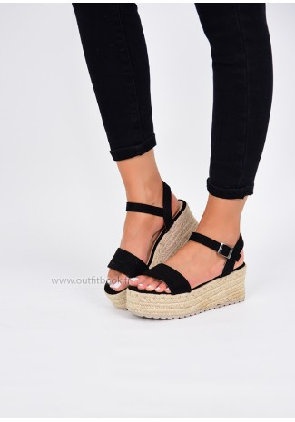 Sandales style espadrilles à plateforme