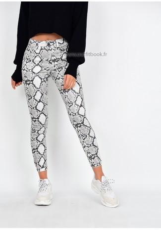 Pantalon skinny imprimé serpent