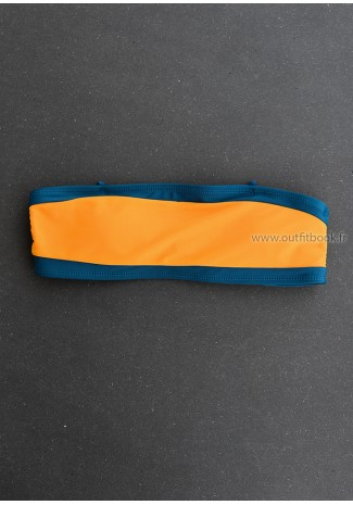 Ensemble bikini bleu et orange