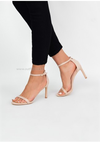 Sandales beige à fines brides