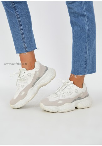 Beige trainers with chuncky sole