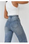Straight Leg Split Detail Jeans