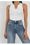 Top with notch detail in white