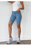 Short cycliste en jean bleu clair