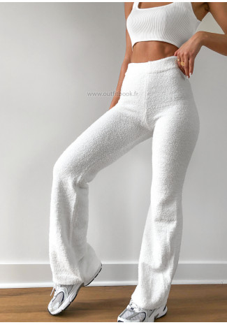 Pantalon blanc matière douce