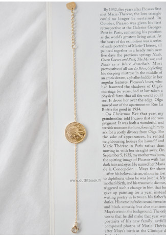 Golden coin bracelet