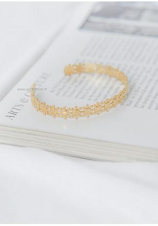 Bracelet jonc texturé