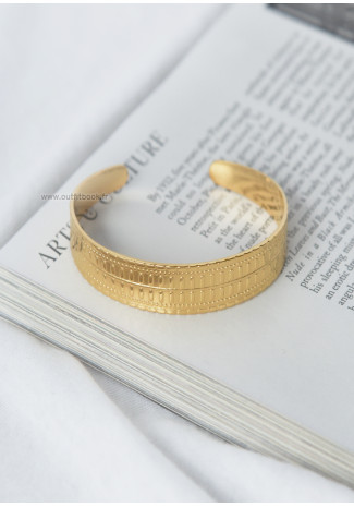 Bracelet jonc dorée