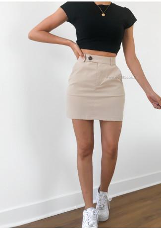 Jupe courte beige