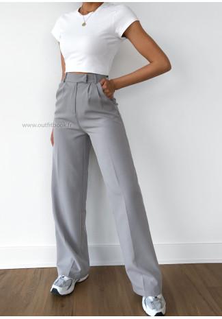 Wide leg pants in grey