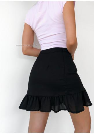 Ruffle skirt in black