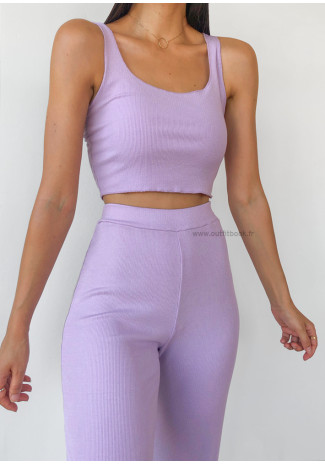 Co-ord set top and trousers in lilac