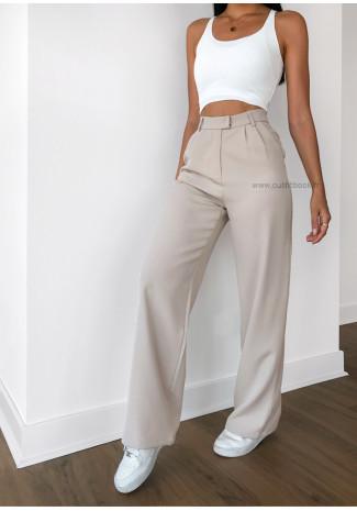Wide leg pants in beige