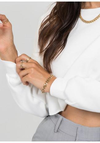 Chunky chain bracelet in gold tone