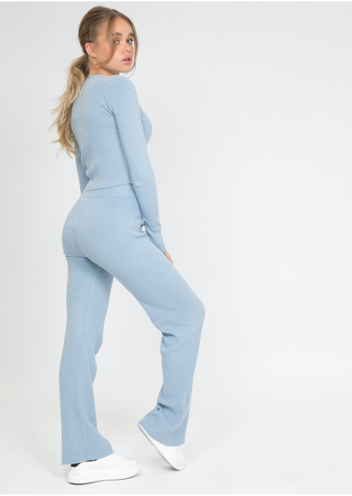 Lounge ribbed co-ord set in blue