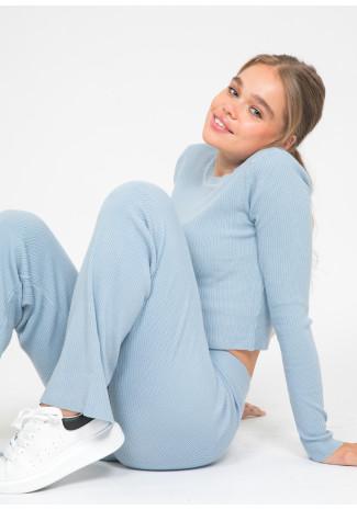 Ensemble pull et pantalon bleu