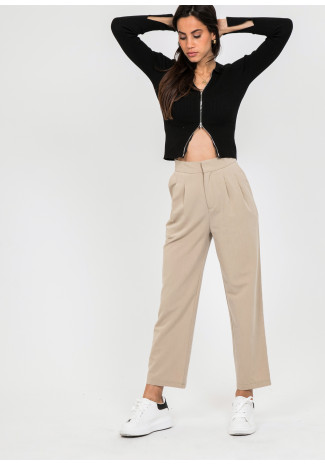 Tailored trousers in beige