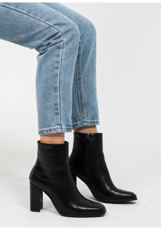 Heeled Boots Croco Effect