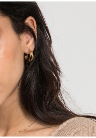 Boucles d'oreilles créoles torsadées