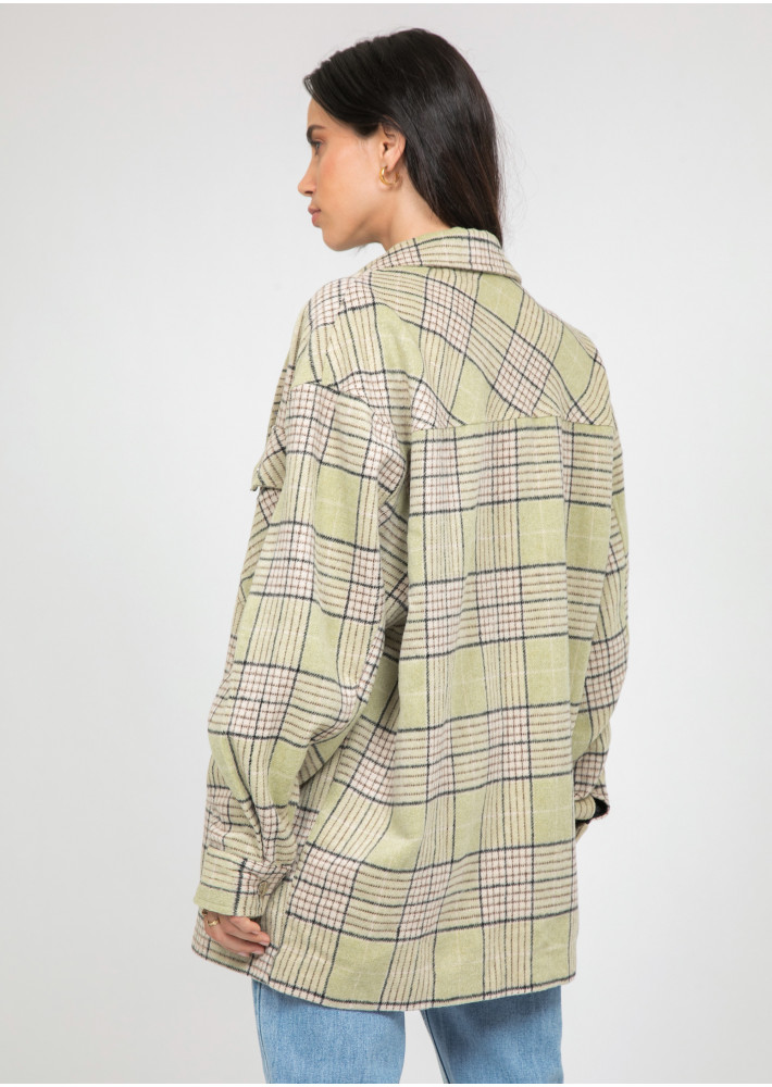 Light green check Jacket