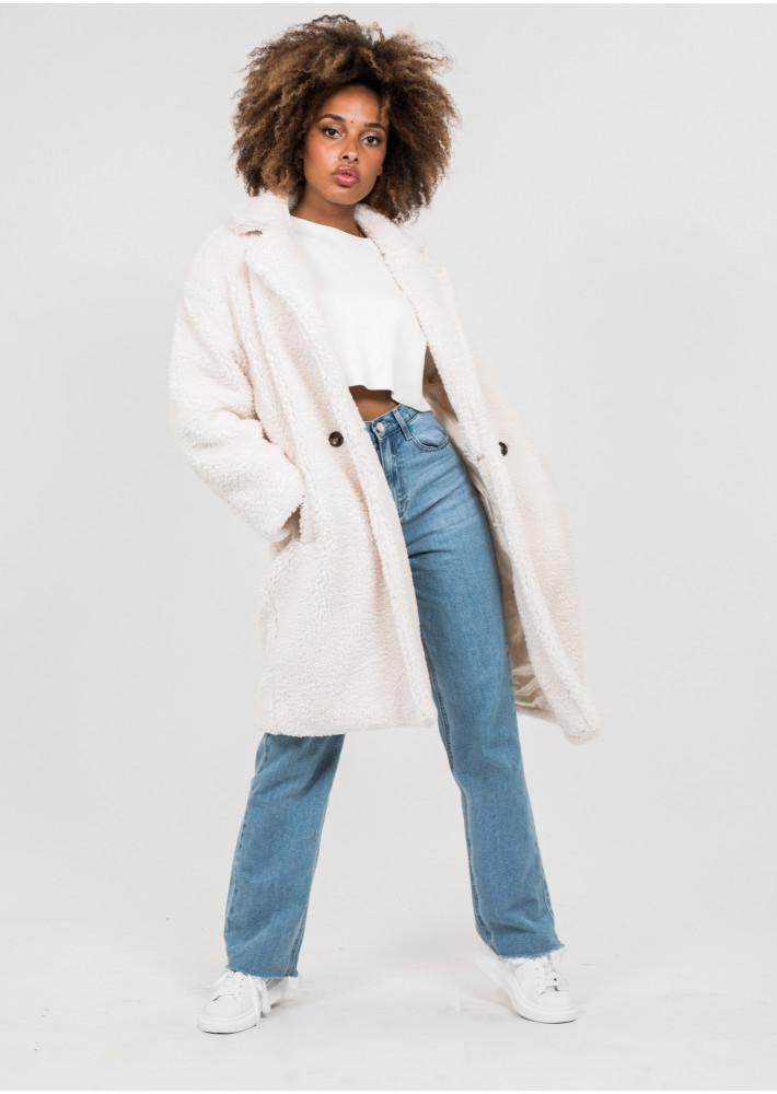 Beige teddy coat