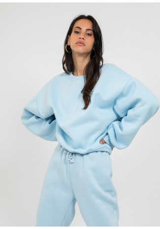Sweat oversize en coton bleu