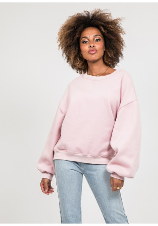 Sweat oversize en coton rose poudré
