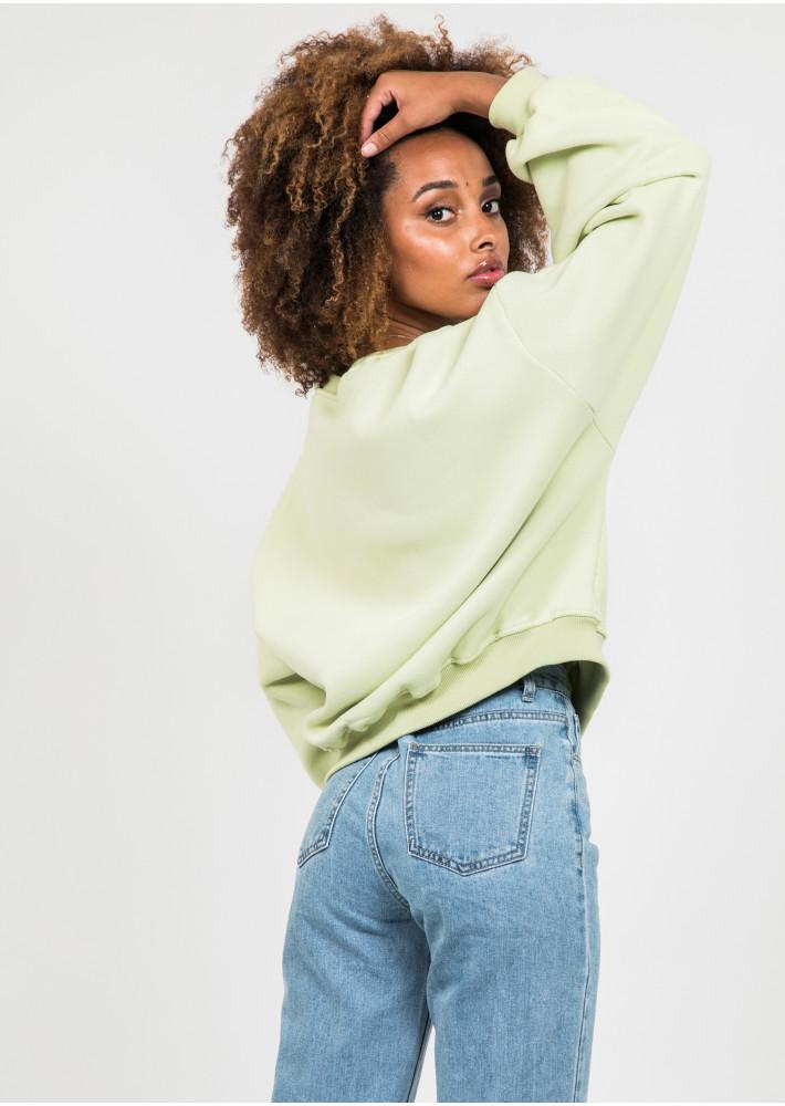 Cotton oversized sweatshirt in green