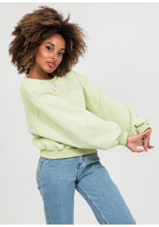 Cotton oversized sweatshirt in green