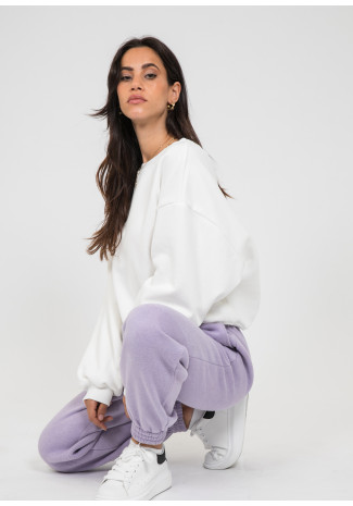 Cotton oversized sweatshirt in white