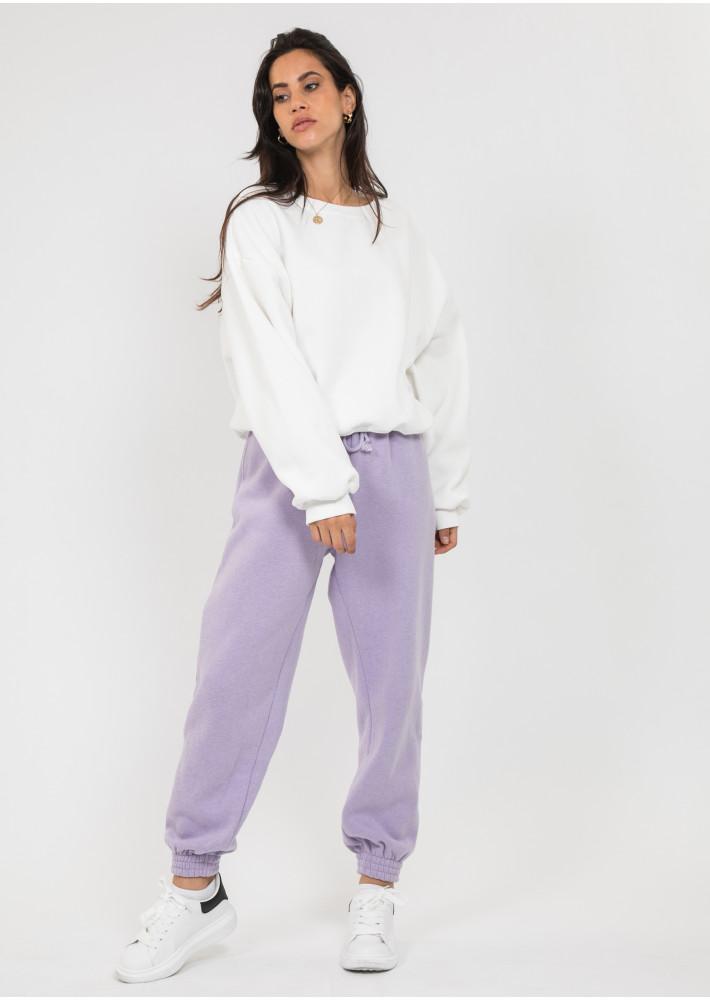 Cotton oversized sweatshirt in white