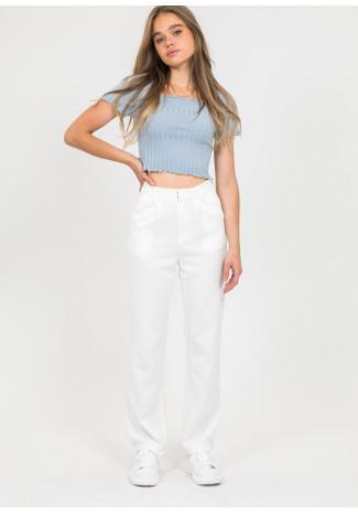 Pantalon blanc ajusté