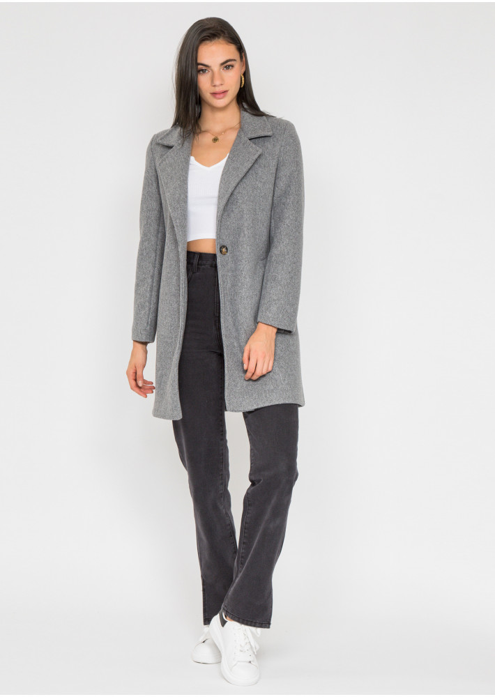 Tailored coat in grey