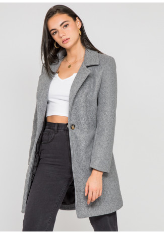 Tailored coat in grey
