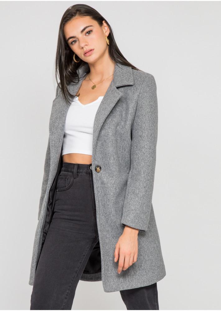 Manteau ajusté gris