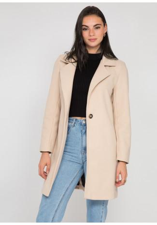 Manteau ajusté beige