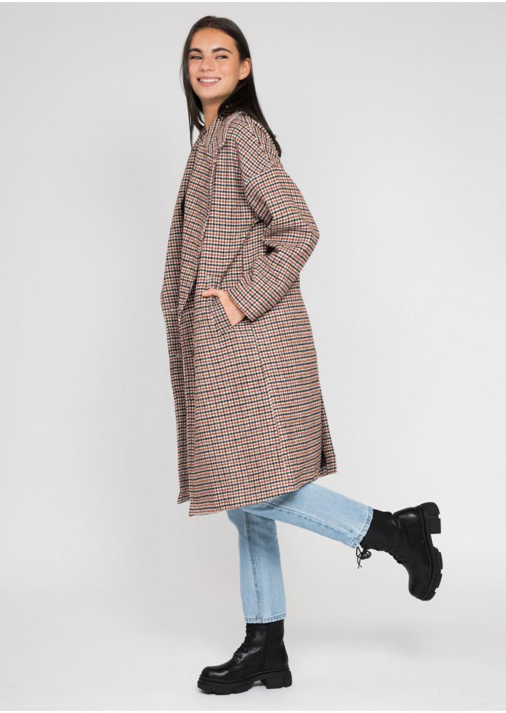 Manteau Long Oversize à Carreaux Outfitbook