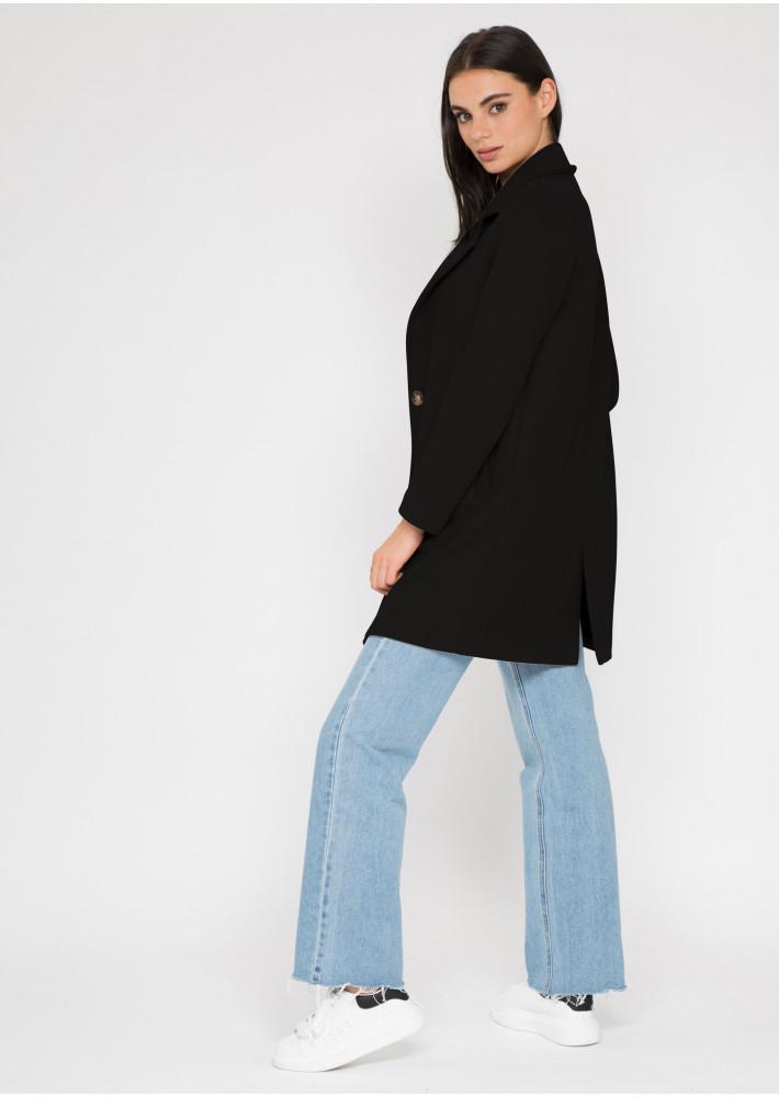 Manteau ajusté noir