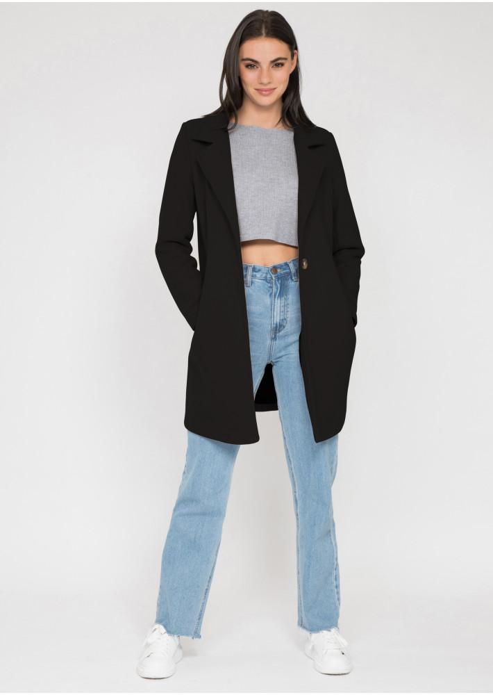 Tailored coat in black