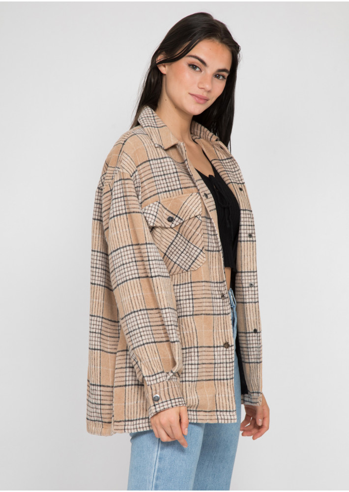 Beige check jacket