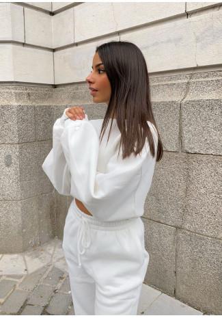 Sweat oversize en coton blanc