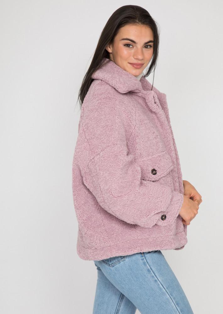 Oversize teddy borg jacket