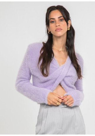 Fully drape front jumper in lilac
