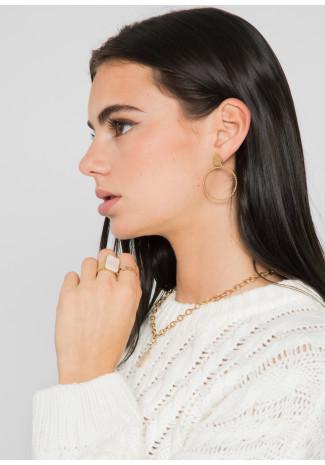 Boucles d'oreilles créoles effet torsadées