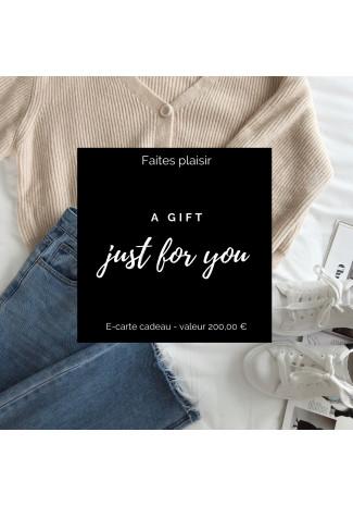 Gift card 200 €