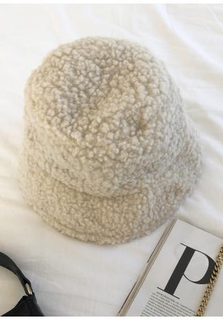 Bob en imitation peau de mouton beige