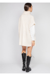 Sleeveless cable knit jumper dress