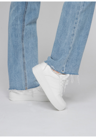 Zapatillas con plataforma en blanco