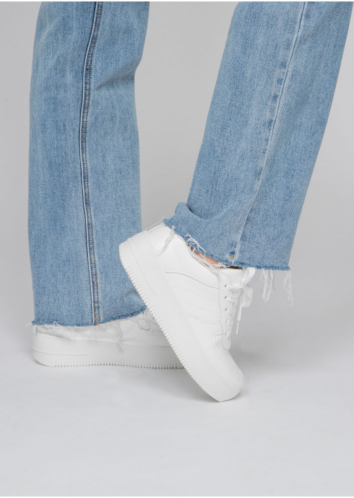 Baskets blanche à semelle plateforme