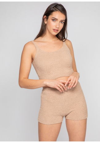 Cosy co-ord lounge set in camel